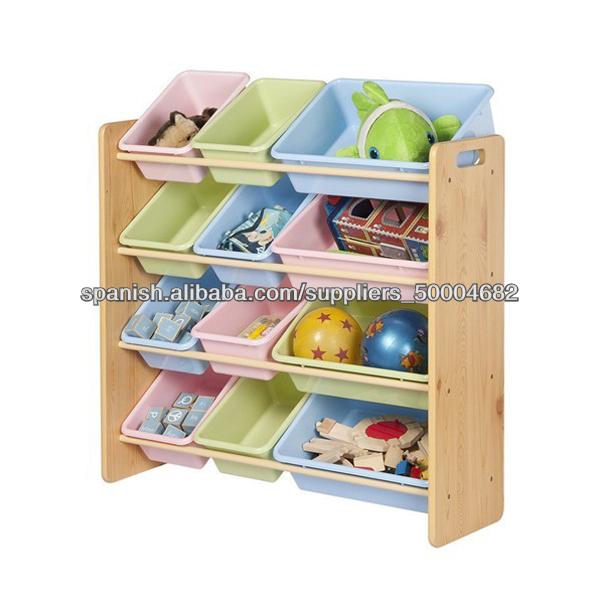 2013 nuevos ni os bin organizador estante del almacenaje - Estantes para juguetes ...