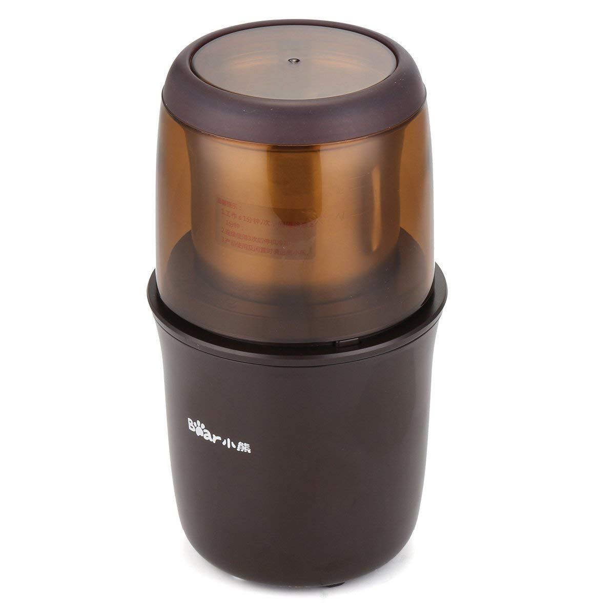 Electric Mini Auto Coffee Bean Grinder Stainless Steel Blade Mill Spice Maker