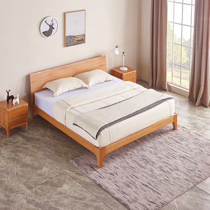 Modern Bedroom Furniture Nordic Designs Luxury Wood Bed With Rechargeable Bedside