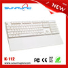 Slim USB 2.0 Mini Keyboard 78 Key Black Small Compact Thin Laptop PC Keybord for Windows 7 XP Vista