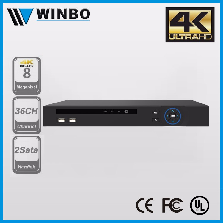 36CH Dual Core CPU Network Video Recorder with HDMI Audio & Video Output 4K IP Camera NVR