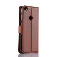 wholesale genuine leather mobile phone back cover , business portable wallet case cover for huawei P8 lite 2017