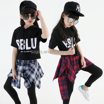 ce9fc0d5b Latest Short Sleeve Jazz Hip Hop Dance Costume Girls Dance Costumes ...