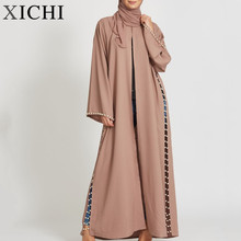 Custom top kwaliteit vrouwen zweet jurk flare <span class=keywords><strong>abaya</strong></span>