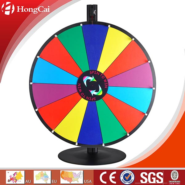 "24"" Dry Erase Tabletop Prize Wheel w/ Steel Base, Promotional Spinning Game Wheel of Fortune"