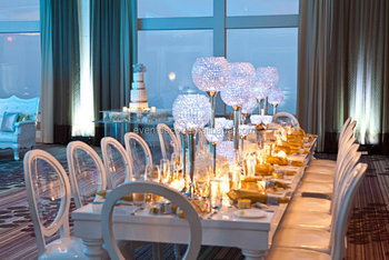 Wedding Silver Candle Holder Table Centerpieces,Crystal Ball Candle ...