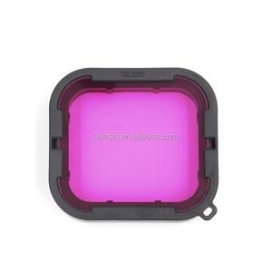 TELESIN! GoPros Red & Purple Lens Filter in one Kit for Go Pro Hero6 Black Hero5 Black Waterproof Housing Case!