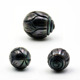 Natural tahitian pearls wholesale latest flower carving design black pearl big loose oyster hand carved pearl jewelry