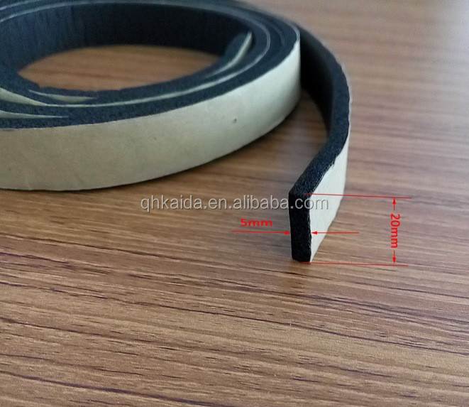 weather resistance plastic adhesive strip for wood dood /weather strip for wood window