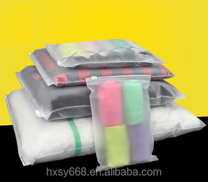 Hot selling Durable High quality Frosted Plastic Packaging Slide Zipper Bag For Socks/Clothing Of Hong Xin