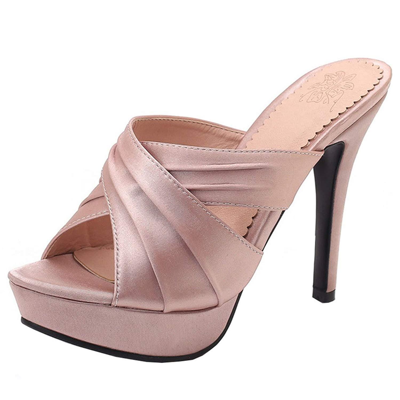 9eb9f3b860d1 Get Quotations · Artfaerie Women s Stiletto High Heel Slippers Platform  Mules Elegant Summer Shoes