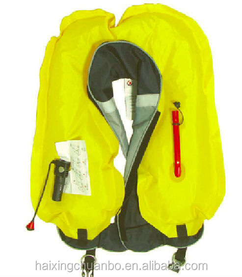 inflatable life jacket/inflated lifesaving jacket/water sports life jacket