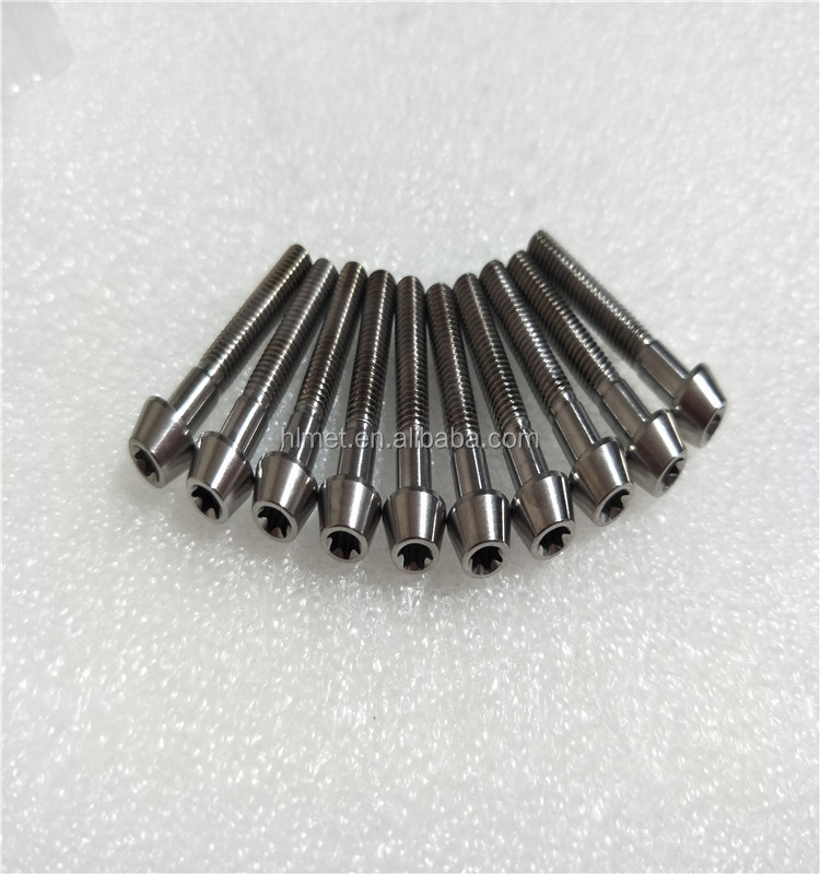2017 Hot Sale DIN912TAP M5x30 T25 Torx Cone Head Titanium Bolts for bicycle