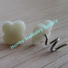 New shape head 13mm Ivory color plastic head Twist Lock Pins