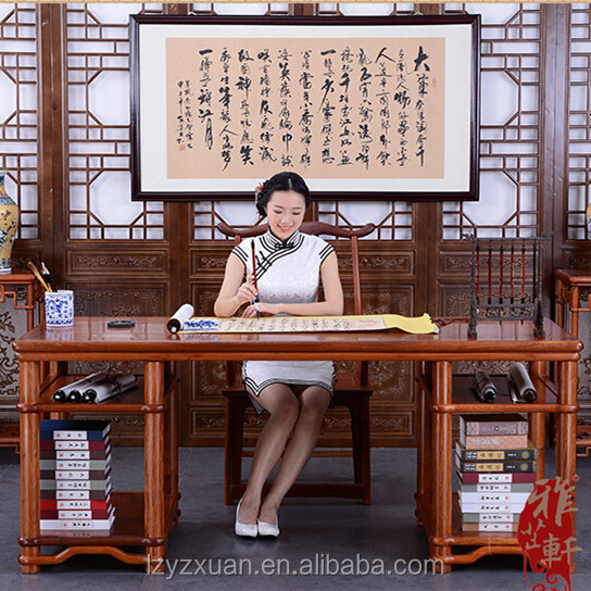 Chinese Classic Valuable Wooden Office Furniture Engineering Drawing Table and Chair Set Design