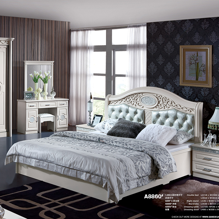 Cheap Price Mdf White Colored Fancy King Size Double Bedroom Set - Buy  Double Bedroom Set,Cheap Modern Bedroom Sets,Fancy Bedroom Set Product on  ...