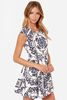 Ivory Print Dress urban clothing/women clothing/wholesale apparel