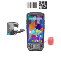 Manufacturer 3G 4F GPS,GPRS,Mobile biometric Fingerprint scanner Android handheld terminal barcode qr code reader rugged PDA