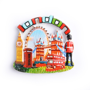 Toy London Double Decker Bus Polyresin Cities Custom 3d Fridge Magnetic