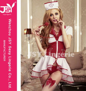 dfbd879081e52 Hot Sales Sexy Nurse Uniform Erotic Hospital Roleplay Costume Fancy Cosplay  Lingerie Girl Nightie Dresses Factory