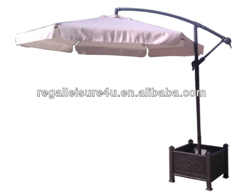 sell steel cantilever umbrella with resin base RLF-22165526