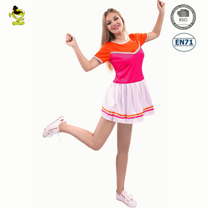 Carnival Party sexy adult women cheerleading costume school uniform