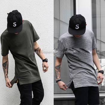 short front and long back fish tail elongated t shirts design big blank  tall t shirt 34faa02d037