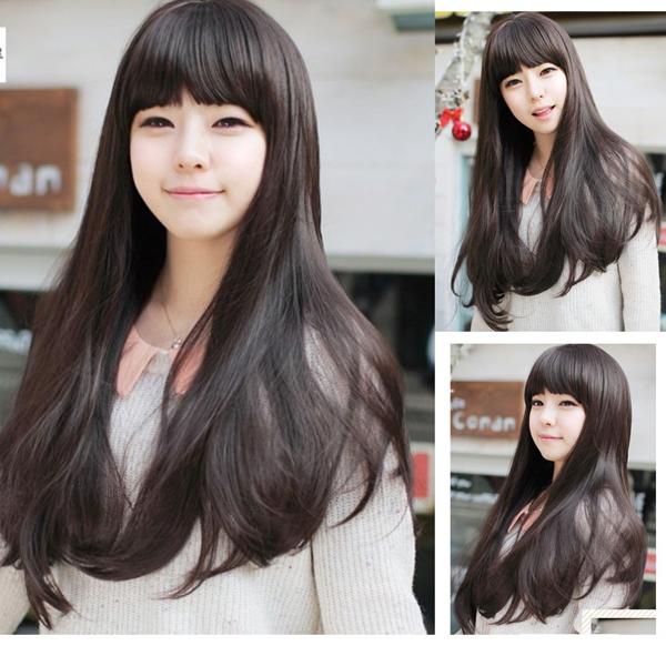 Новый стиль женские девушки секси длинный мода вьющиеся полный парик + парики крышки подарок