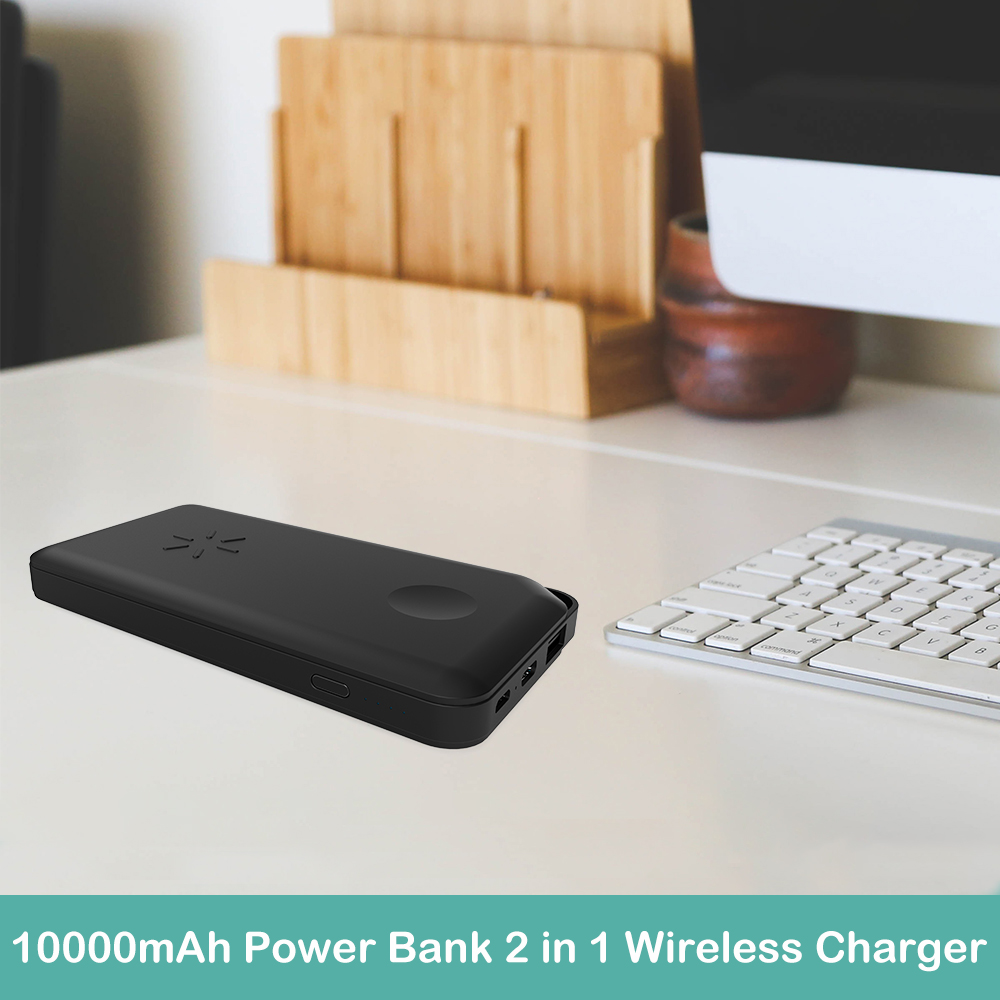 2019 new manufacturing fast wireless charger for mobile phone and watch QI 2 in 1 wireless charger