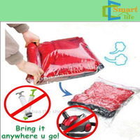 vacuum roll storage bags no VAC travel hand luggage clear/ transparent