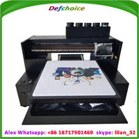 DER-R2000T a3 size 8 colors t shirt direct to garment printer for sale