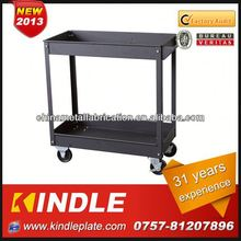 Grey 2 shelves Kindle hotel trolley room service cart