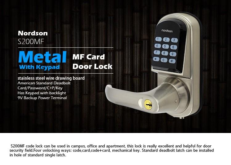 electric with timer double cabinet key unlock digital door lock