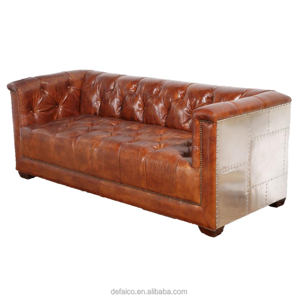 La habitación de cuero genuino italiano sofá muebles