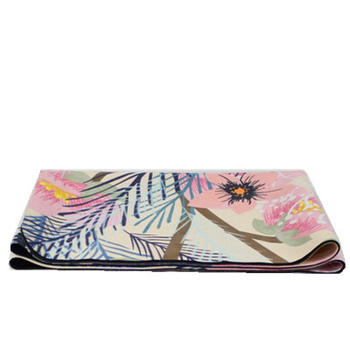New design microfiber colorful printed high quality 1mm rubber suede yoga mat wholesale