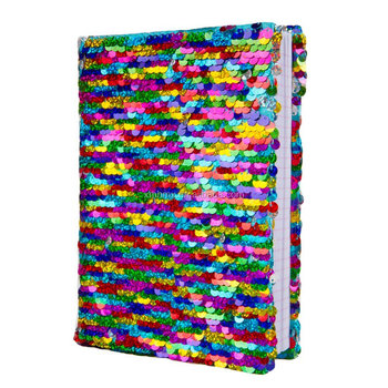 Custom Design High Quality A4 A5 Sequin Book Covers Colorful School Diary