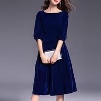 094298815 Cheap Girls Blue Velvet Dress