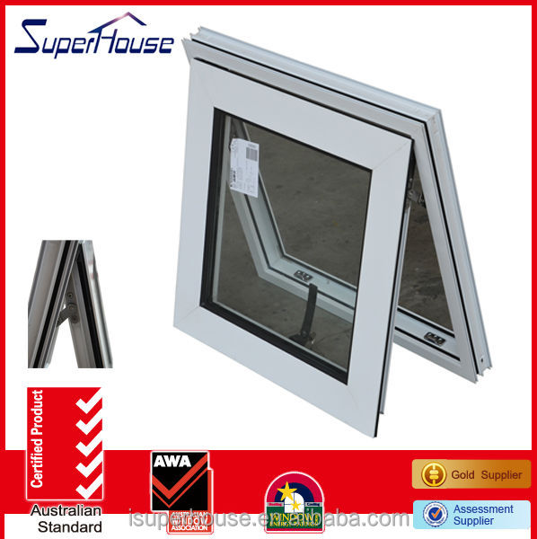 top quality aluminium top hung ventilation glass window