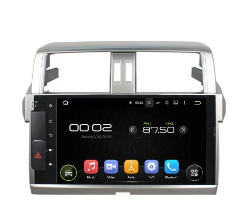 OEM 10.1'' Android car dvd gps for TOYOTA PRADO 150 2013 - 2017 In dash 2 DIN Gps navigation Rear touch Screen remote control
