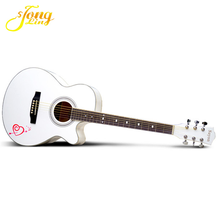 TL-0051 White Paint Brands Professional Global Acoustic Guitar Sales in China