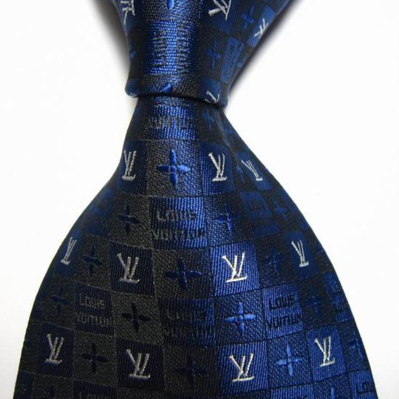 468061e33cdb Get Quotations · 2015 Fashion Blue Wedding Jacquard Woven 100% Silk Ties  For Men Necktie Plaid Brand Tie