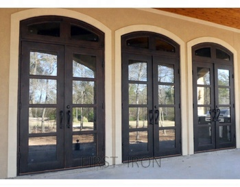 best sneakers caf16 eec13 Oversized French Lite Style Wrought Iron Residential Front Entrance Door -  Buy Wrought Iron Double Door,Iron Main Entrance Doors Grill Design,Entrance  ...