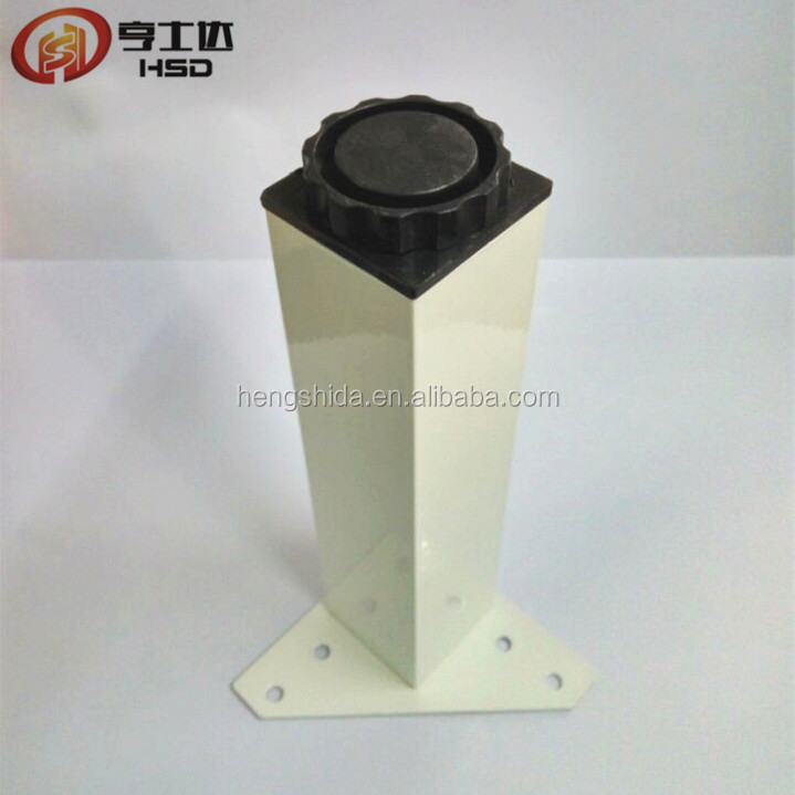 The new hot sell metal furniture spray white cabinet adjustable leg