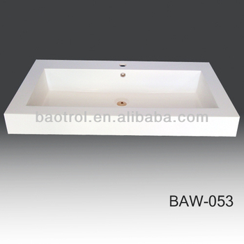 Baw 053 Artificial Stone Washing Basin Outdoor Man Made