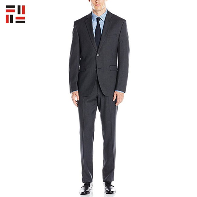 good quality anti-wrinkle anti-shrink long sleeve men business suits