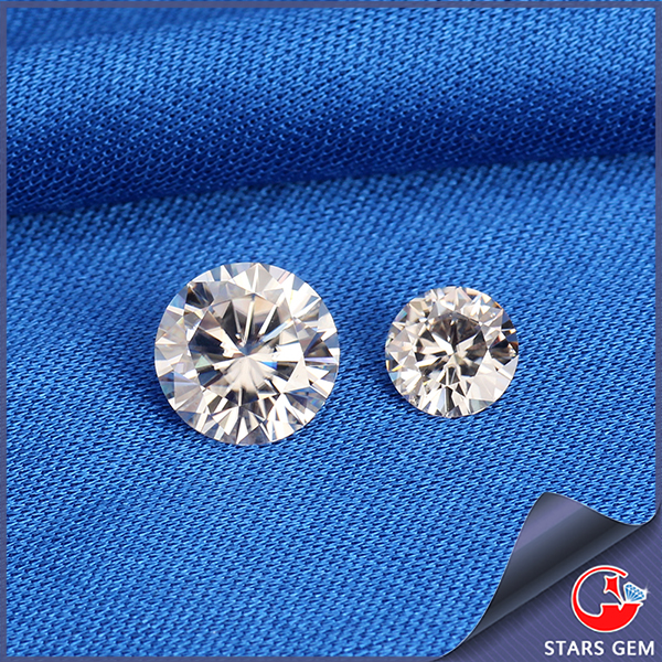 clear white vvs synthetic DEF color diamond cut moissanite for silver jewelry