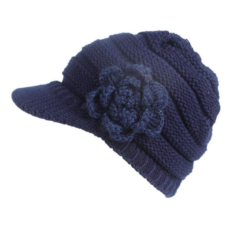 5dd5386b2fc Get Quotations · Women Knit Hat Brim Berets