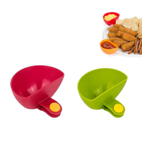 Silicone Dip Clips Plate Grab Clip-on Dip Holders Tomato Sauce Salt Vinegar Sugar Flavor Spices Plate Bowl Container Dish
