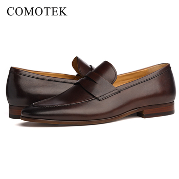 a374e23a4 2019 new arrive wholesale custom mens dress shoes loafers genuine man  leather casual shoes