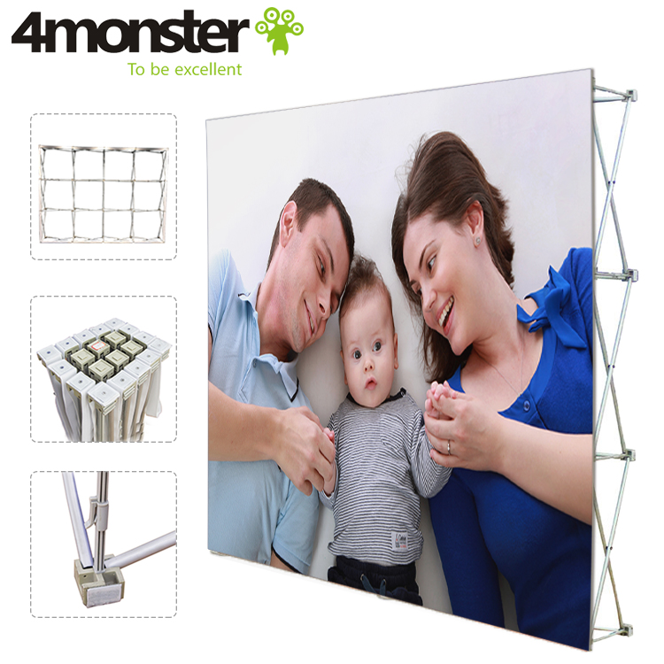 10ft Portable aluminum frame fabric tension folding pop up stand favoshow display